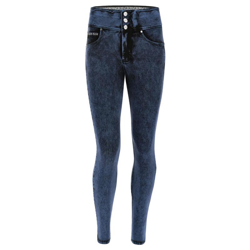 N.O.W.® Pants Denim - Skinny z wysokim stanem - z efektem marmuru - J76B