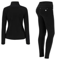 WR.UP® Spodnie Jeans - Low Waist Skinny - Czarne - J7Y