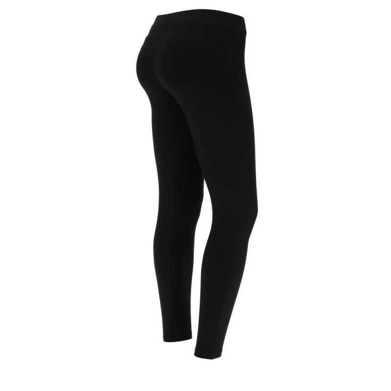 WR.UP® Denim - Spodnie Skinny z niskim stanem w kolorze ciemnoniebieskim z żółtymi szwami