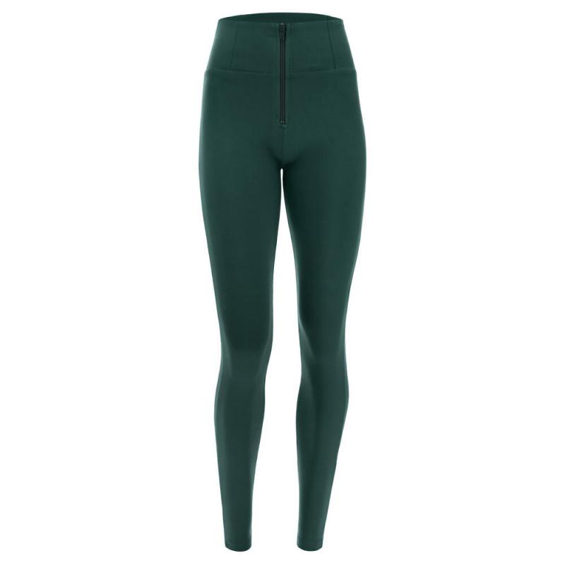 WR.UP® Denim - Spodnie Skinny z wysokim stanem w kolorze spranej szarości z żółtymi szwami