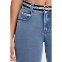 WR.UP® Denim - Spodnie Skinny z wysokim stanem w kolorze czarnym z czarnymi szwami