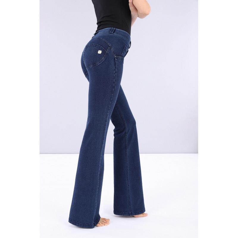 WR.UP® Denim - Spodnie Skinny z regularnym stanem w kolorze spranej szarości z żółtymi szwami