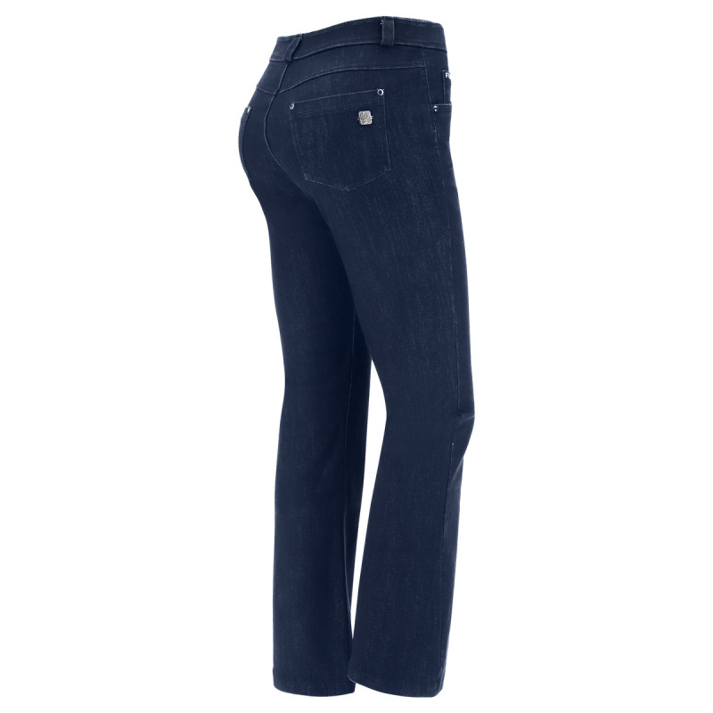 WR.UP® Denim - Spodnie Skinny z niskim stanem w kolorze spranej szarości z żółtymi szwami