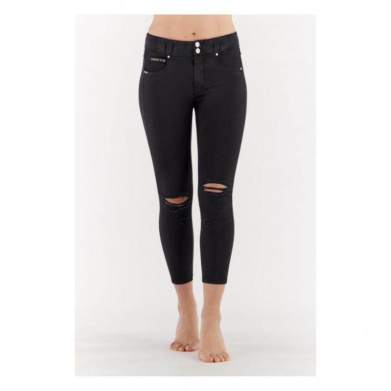 WR.UP® - Spodnie Skinny z niskim stanem w kolorze ciemnoszarnym