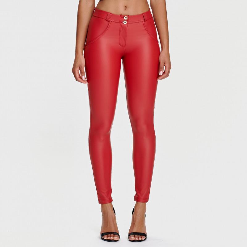 WR.UP® - Spodnie Skinny z regularnym stanem w kolorze jasnego beżu
