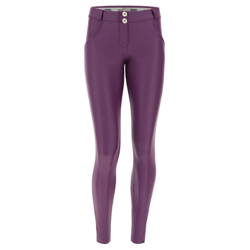 WR.UP® Ekoskóra - Spodnie Skinny z niskim stanem w kolorze czarnym