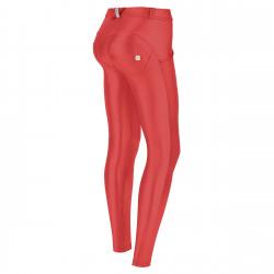 WR.UP® Ekoskóra - Spodnie Skinny z wysokim stanem w kolorze białym