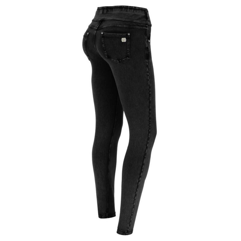 WR.UP® - Spodnie Skinny z regularnym stanem w kolorze ciemnoszarnym