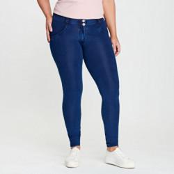 wr.up® shaping effect - niski stan - skinny - tył z jerseyu denim - przód z prawdziwego wycieranego jeansu